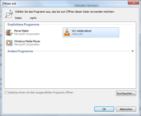 Dateitypen Zuordnung Windows 7 - 4