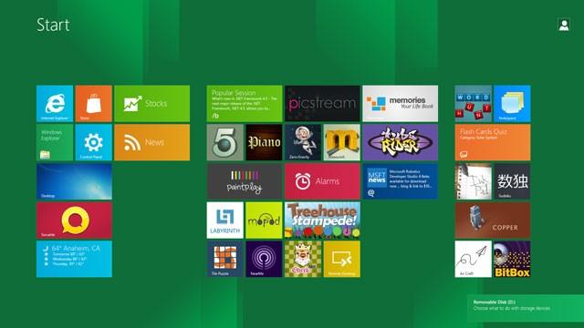 Tiles-Desktop von Windows 8
