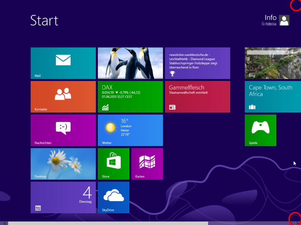 Windows 8 vom App-Bildschirm aus herunterfahren (1)