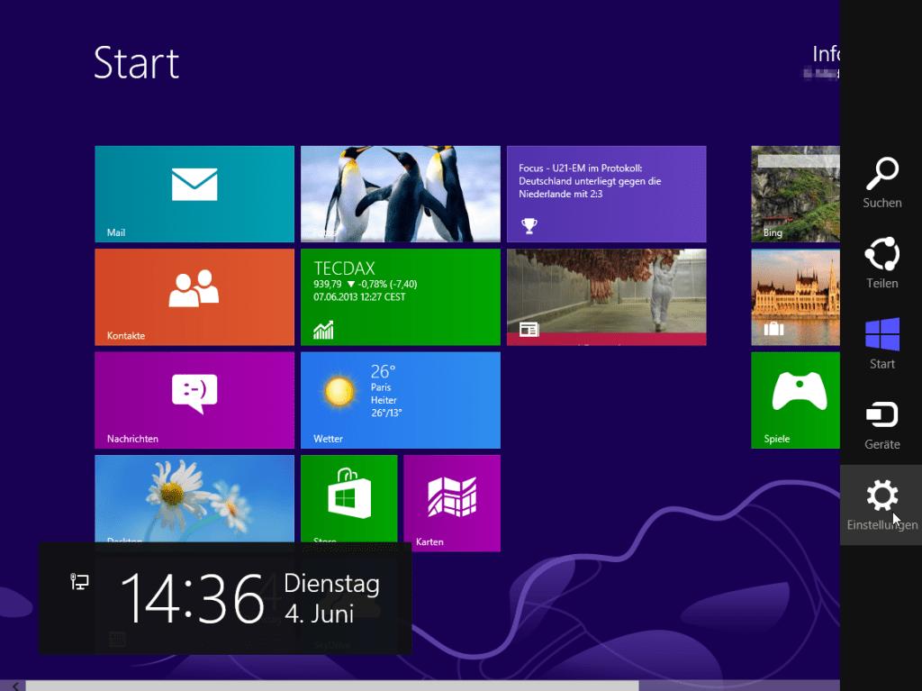 Windows 8 vom App-Bildschirm aus herunterfahren (2)
