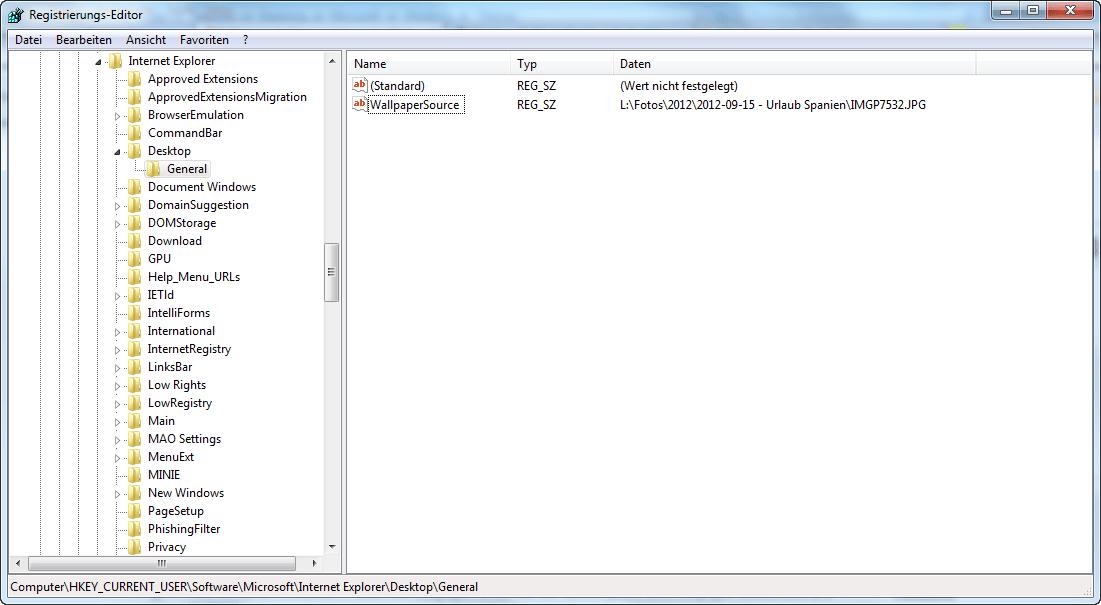 Windows 10 desktop hintergrunde pfad