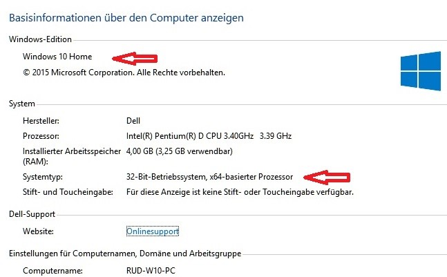 Windows 10-Version anzeigen