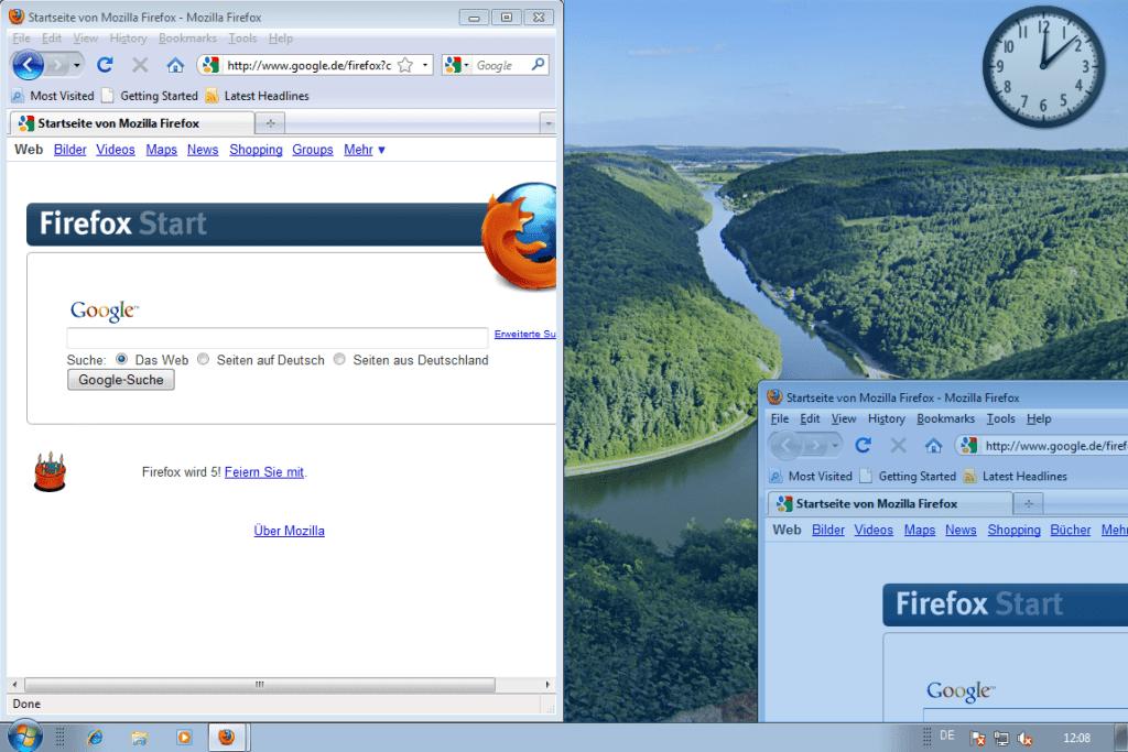 Windows 7 - Fenster nebeneinander anordnen (3)