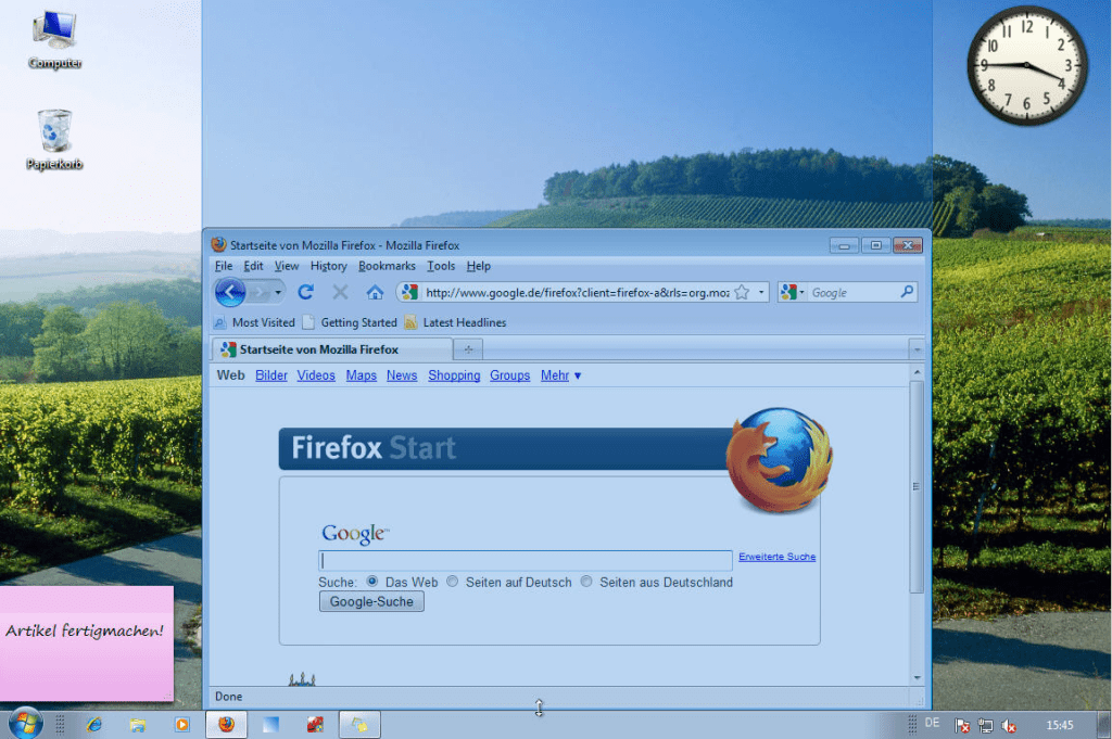 Windows 7: Fenster vertikal strecken
