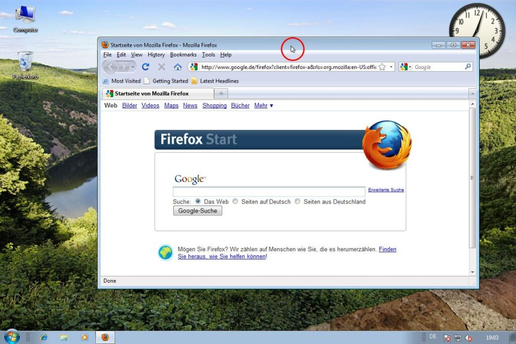 Windows 7: Fenster maximieren (1)