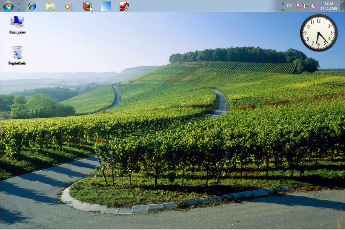 Windows 7: Taskleiste (Superbar) - Position der Superbar oben