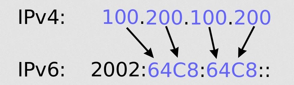 IP-Adressen können aus vier (IPv4, oben) oder sechs (IPv6, unten) Segmenten bestehen