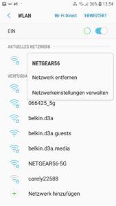 Wenn der WLAN Authentifizierungsfehler immer noch auftritt, tippen Sie lange auf Ihr WLAN-Netzwerk...
