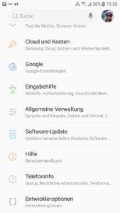 """Suchen Sie die Allgemeine Verwaltung in Ihren Android Einstellungen, um die Meldung """"WLAN Authentifizierungsfehler aufgetreten"""" zu beheben."""