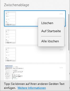 Windows-Zwischenablage-Verlauf