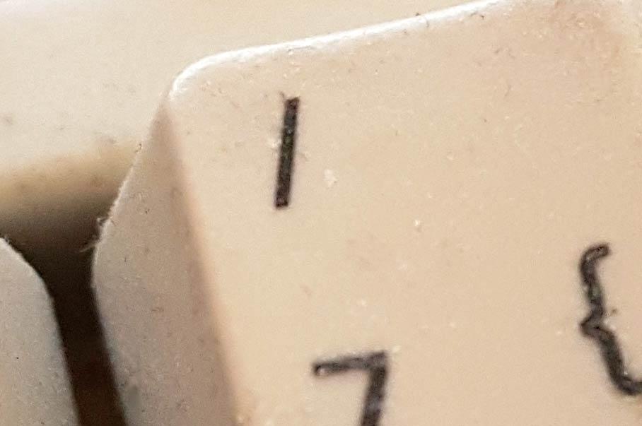 Schrägstrich auf der Tastatur