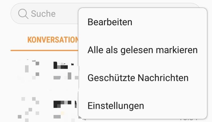 In den Einstellungen der Android Nachrichten-App kann man auch die Telefonnummer finden.