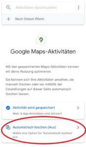 Sie können Ihren Verlauf von Google Maps löschen oder die Speichereinstellungen verwalten.