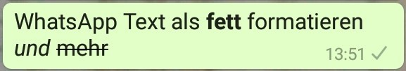 WhatsApp Text fett