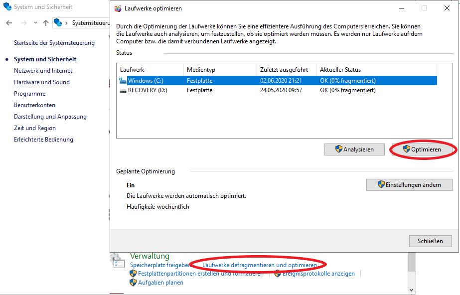 Defragmentieren wird Ihren Computer schneller machen.