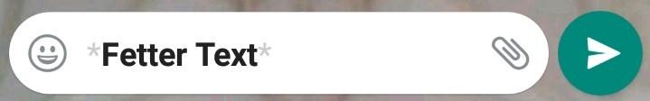Sternchen formatieren einen WhatsApp Text fett.