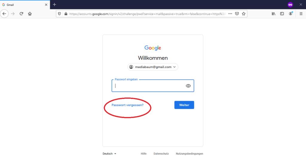 Gmail-Login-Screen