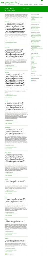 Freie Schriftarten für die kommerzielle Nutzung: Schrift-Link-Sammlung bei Praegnanz