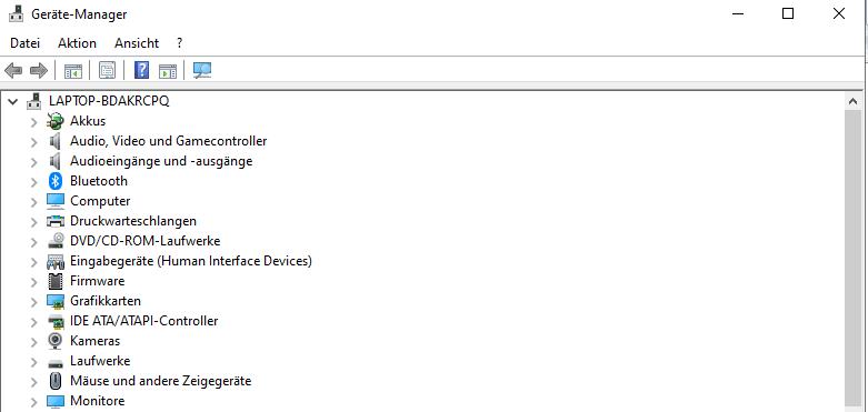 Im Gerätemanager können Sie veraltete Treiber finden und den Seitenfehler beheben.