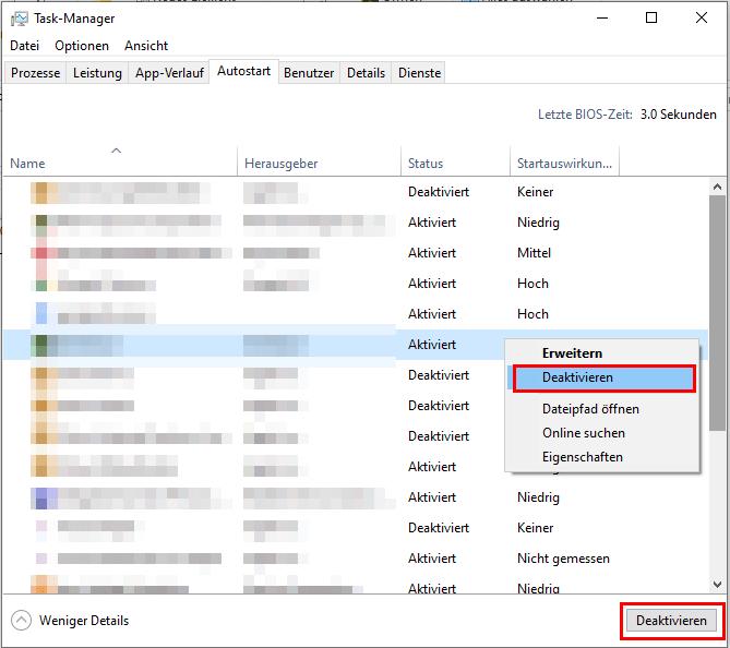 Windows 10 Autostart-Ordner: Autostart-Ordner Anwendungen deaktivieren