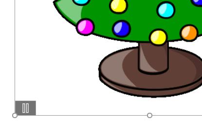 Animierte GIFs nach dem Einfügen in Word: es gibt einen Play-Button links unten.
