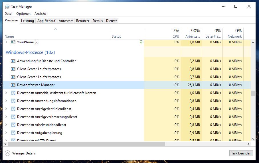 desktop window manager