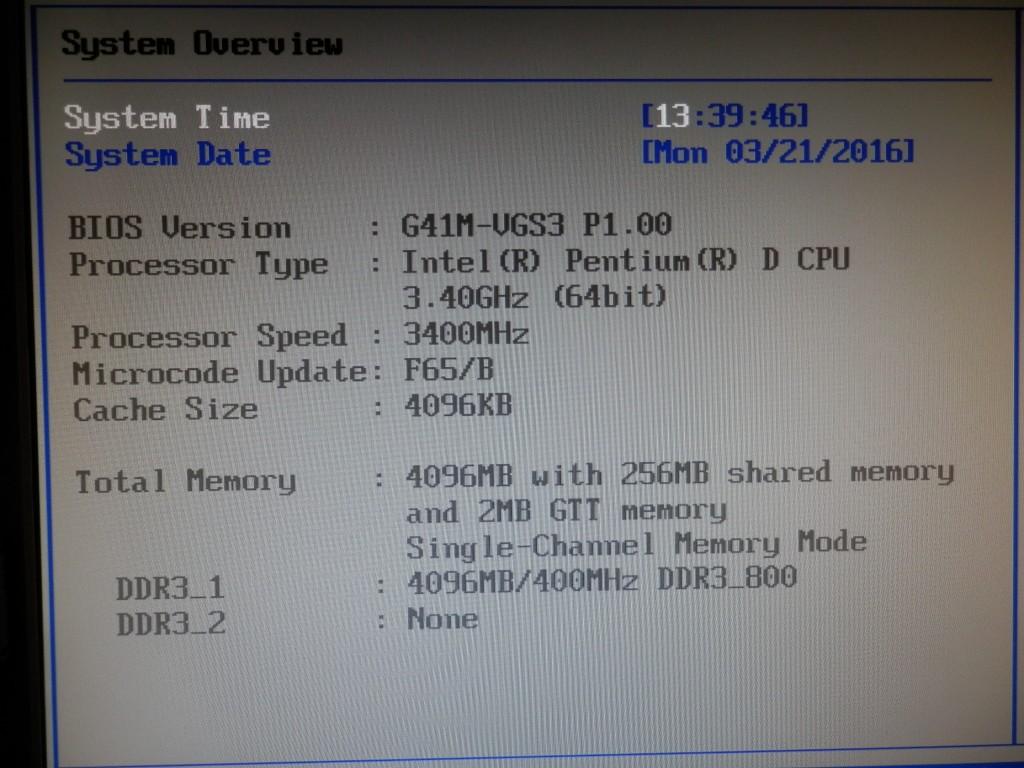 BIOS-Bildschirm (Phoenix)