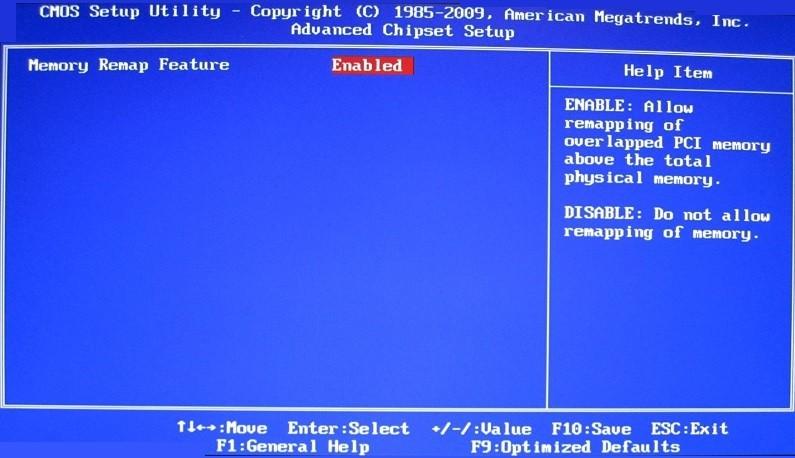 BIOS-Bildschirm mit dem