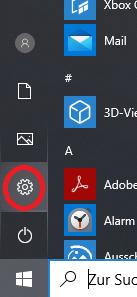 system einstellungen windows 10