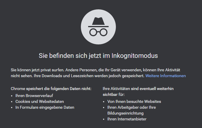 Browser Incognito