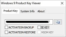 Windows 9 Product Key Viewer