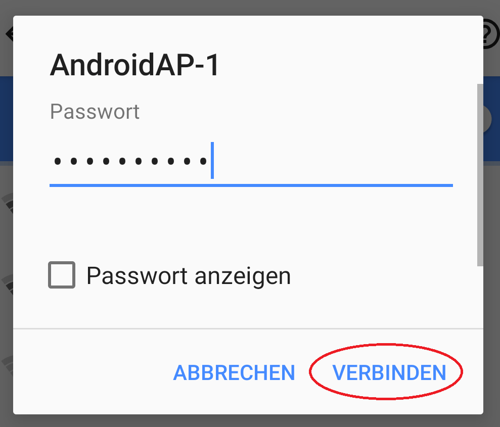 wlan passwort