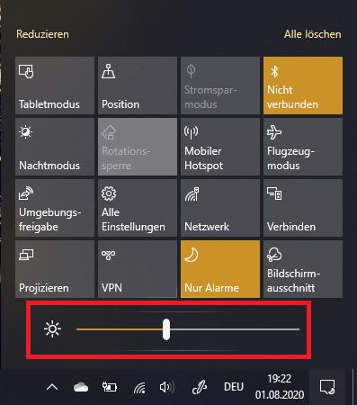 monitor helligkeit einstellen