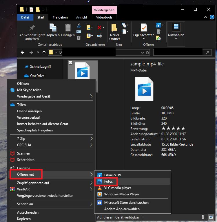 Windows 10 Video Schneiden