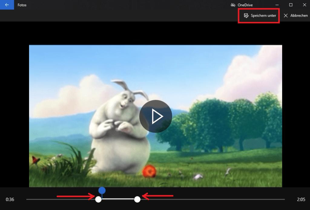 video schneiden windows 10