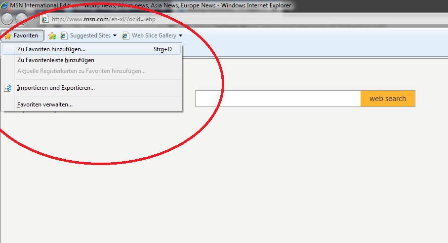 alt-z Internet Explorer
