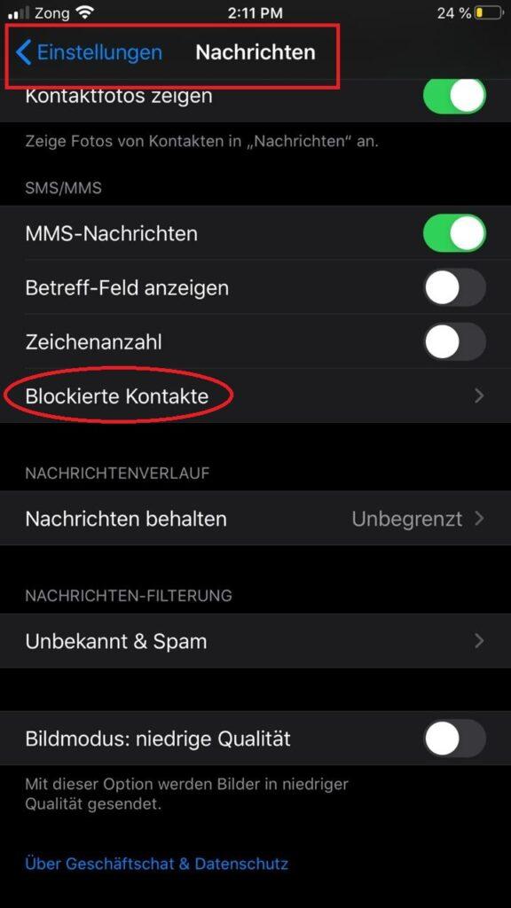 sms oder anruf blockieren