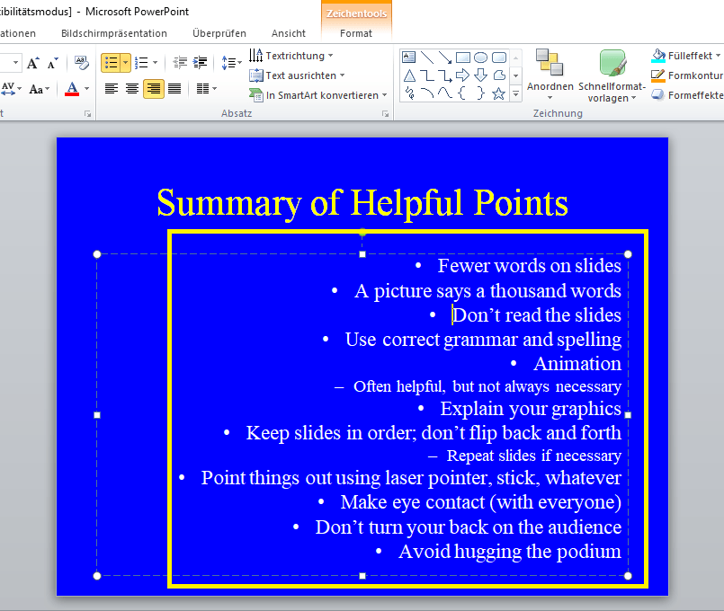 strg-r powerpoint
