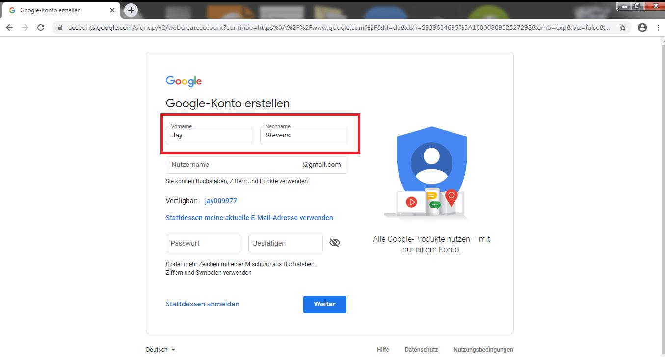 Wie erstelle ich ein Google Konto? - Zwei Möglichkeiten