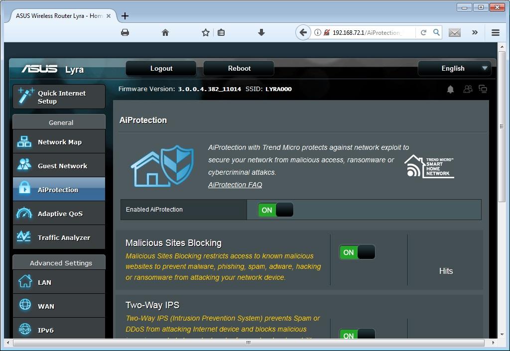 ASUS Lyra MAP-AC2200: Login mit Browser
