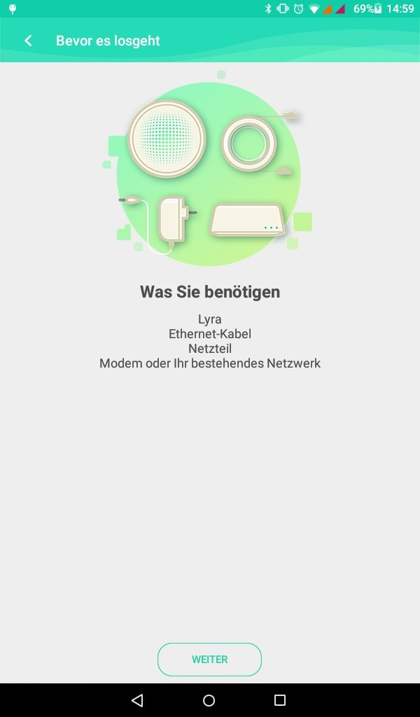 App: Begüßung