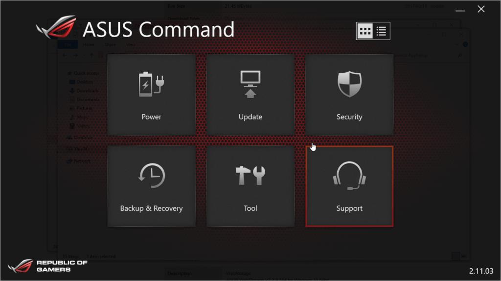 Mit der Command App lässt sich der Mini-PC verwalten
