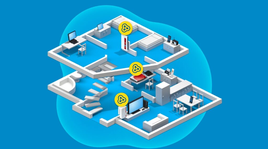 Die Mesh-Technik soll für besseren WLAN-Empfang im ganzen Haus sorgen