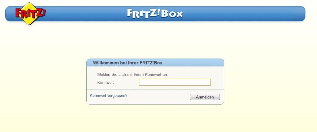 Fritz Box - Anmeldung