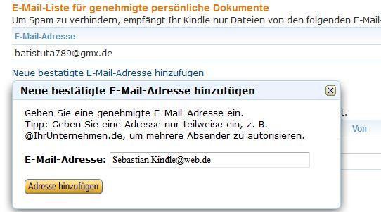 Neue E‑Mail-Adresse registrieren