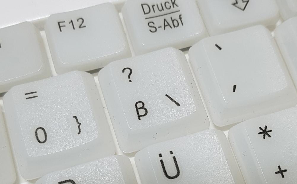 Backslash-Zeichen auf der Tastatur